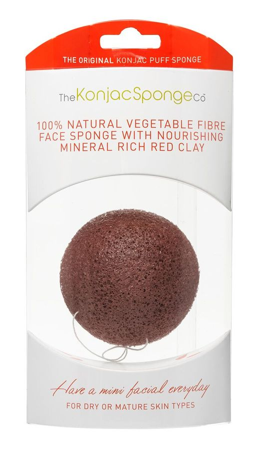 Original Korean Konjac Sponge Red Konjac Sponge for dry and mature skin