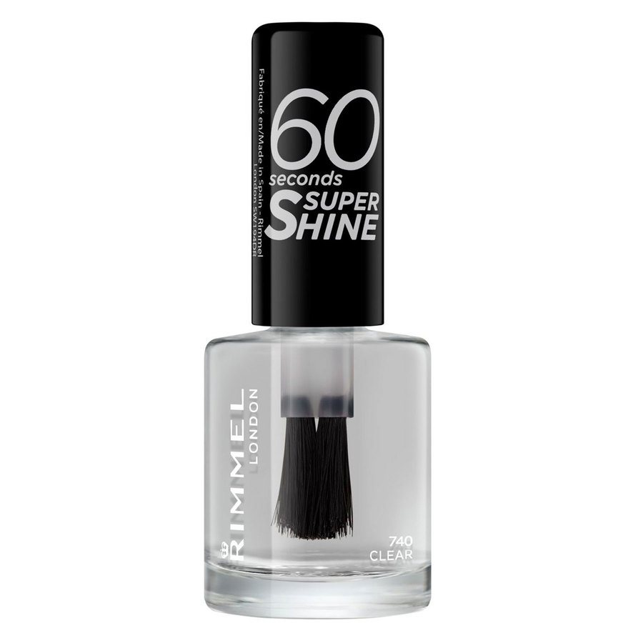 Rimmel London 60 Seconds Super Shine Nail Polish #740 Clear 8ml
