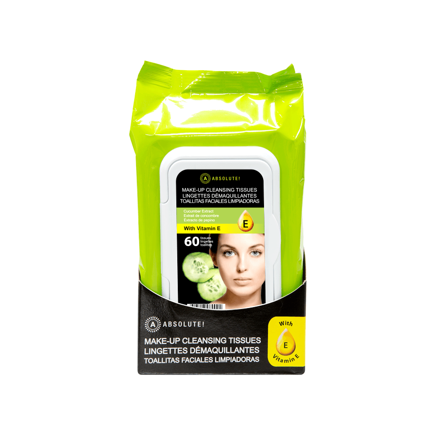 Absolute New York Make-Up Cleansing Tissues Cucumber Extract 60pcs