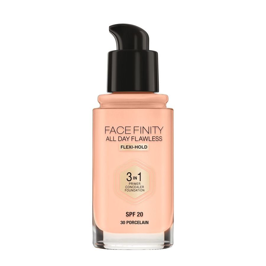 Max Factor Facefinity All Day Flawless 3-In-1 Foundation #30 Porcelain 30ml