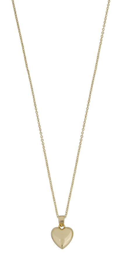 Snö Of Sweden Small Heart Pendant Necklace Plain Gold