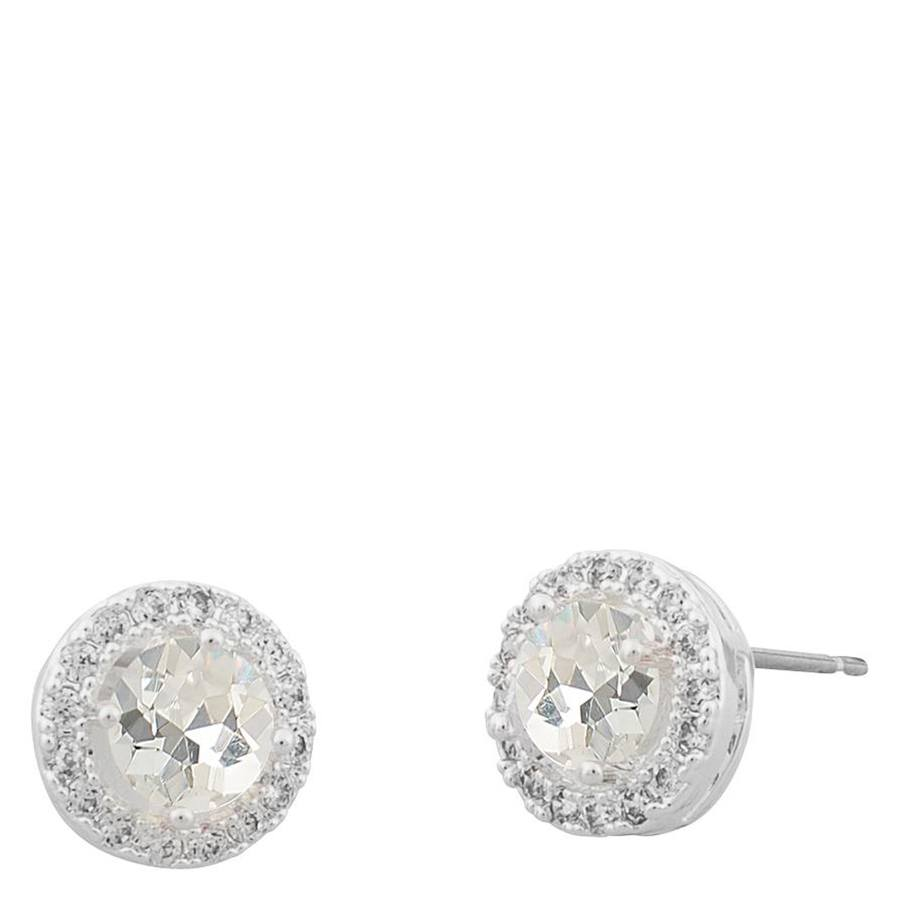 Snö Of Sweden Lissy Small Stone Earring Silver/Clear 9mm
