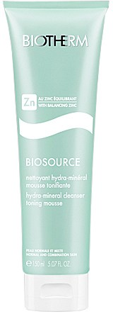 Biotherm Biosource Hydra-mineral Cleanser Toning Mousse Normal And Combination Skin 150ml