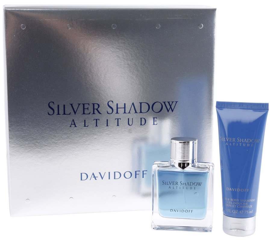 Davidoff Silver Shadow Altitude Eau De Toilette For Han 50ml (gavesett 2 Deler)