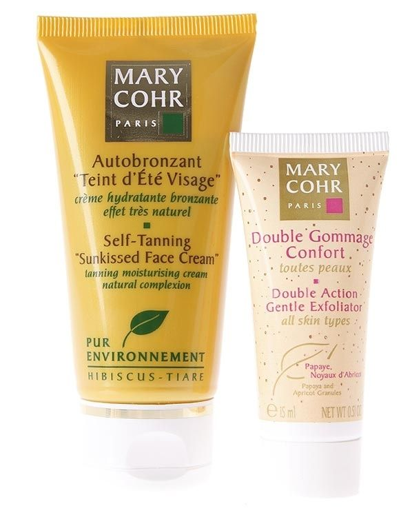 Mary Cohr Self Tanning Sunkissed Face Cream 50ml Og Double Gommage Confort 15ml