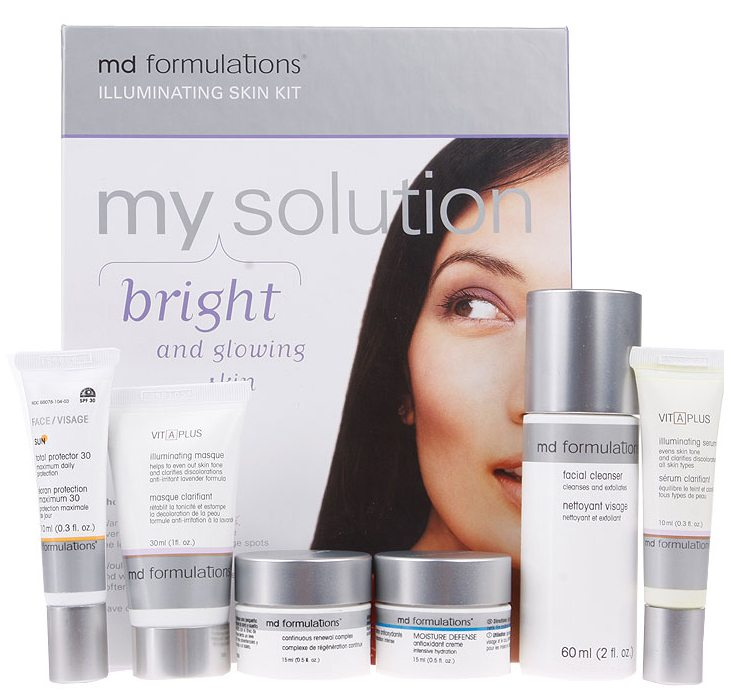 Md Formulations My Solution Kit Bright And Glowing Skin -illuminating Skin Kit 6 Pcs