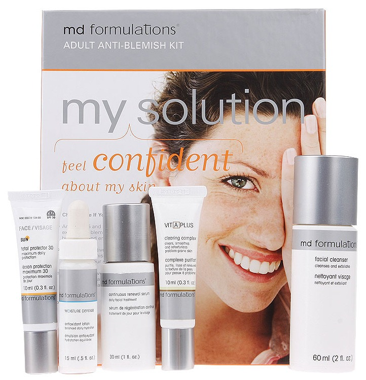 Md Formulations My Solution Kit  Feel Confident About Your Skin- Adult Anti Blemish Kit 5pcs