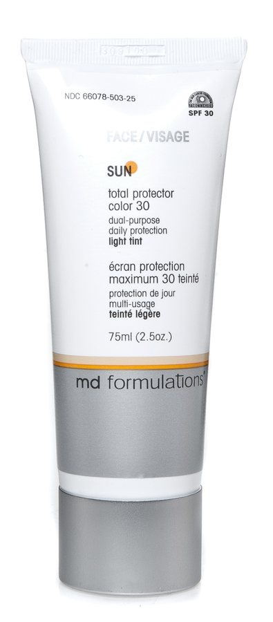 Md Formulations Sun Total Protector Face Color Light Tint Spf30 75ml