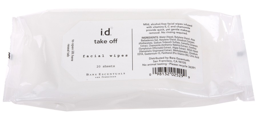 BareMinerals Take Off Facial Wipes 20stk