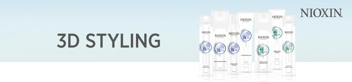 Nioxin 3D Styling banner